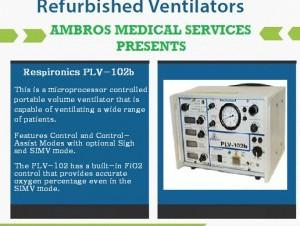 PLV 102 B Transport Ventilator